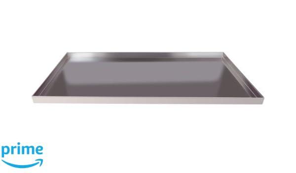 Straight Edge Dicke 1,5/mm H/öhe 2/cm Silber Aluminium-Legierung 3003 Agnelli rechteckig Pfannen Backblech mit Saum