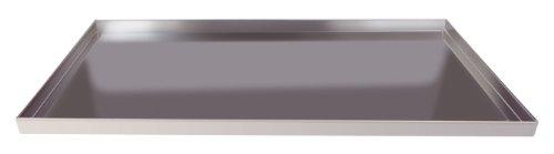 Pentole agnelli coal49/2d60 teglia rettangolare con orlo, bordi dritti, altezza 2 cm, lega alluminio 3003, spessore 1.5 mm, argento