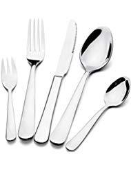 Silverware Besteck Set Wifond 20-teilig Edelstahl Utensilien Service für 4 Personen inklusive Messer, Gabel, Löffel, hochglanzpoliert, spülmaschinenfest 18/8 Stainless Steel -