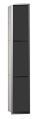 emco asis WC-Modul (150) MZF, Abfallkorb UP, 964mm, ohne Einbaurahmen, Chrom/Schwarz