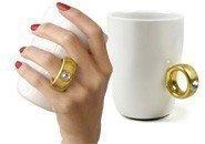 INVOTIS Kaffeebecher mit Swarovski Kristall 2 CARAT CUP gold (Gold Cup)