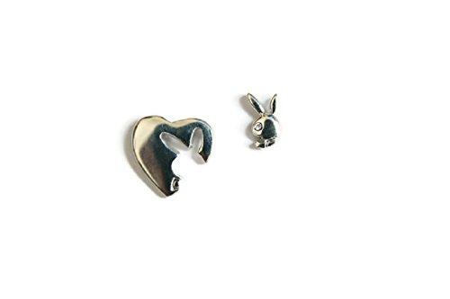 Original Playboy Kaninchen Logo platiniert Ohrstecker Fashion Ohrring mit Geschenk Box by (Playboy Bunny Kostüm)