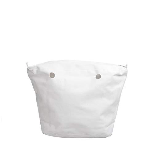 O Bag MINI Sacca Interna Canvas (Bianco)