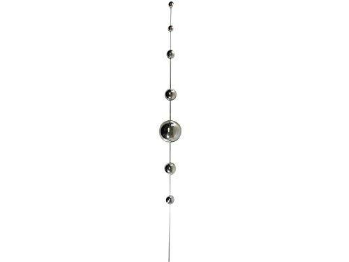 Gazing Ball (Edelstahl Groß Gazing Ball Gartenstecker/- 7Balls)