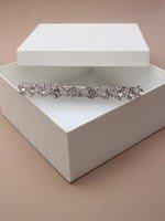 Cristal Plaqué cristal innovation- 9859 Vintage aliceband/Tiara. Cette crème est livré dans un coffret cadeau.