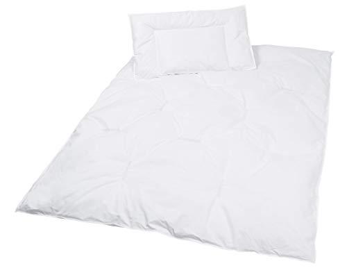 Zollner Kinder Bettenset, Daunen Bettdecke und Kopfkissen, 40x60 cm + 100x135 cm -