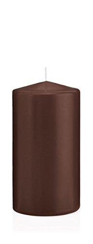 Stumpenkerzen Kerzen Schoko, Schoko 10 x 8 cm (H x Ø), 6 Stück, Wiedemann Kerzen, Markenkerzen Made in Germany in RAL Qualität