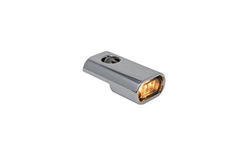 Blinkergehäuse Chrome Universal für 15,5mm LED Einsätze, Blinkerhalter LED-Blinker Armaturen Lenkerarmaturen Blinker (LED Blinker) (Harley Led-blinker-einsätze)