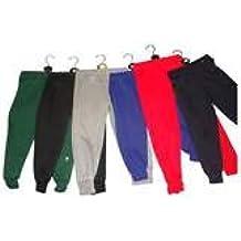 Kids Polar algodón pantalones para la escuela o PE juegos, color granate, tamaño 34