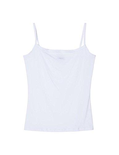 Intimissimi Damen Trägerhemd mit Schmalen Trägern Aus Leichter Mikrofaser (Weiße Mikrofaser-shirt)