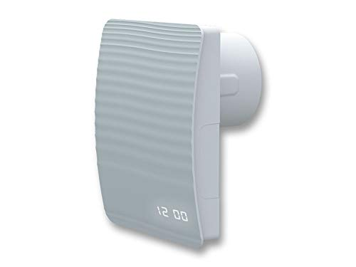 Wandventilator Abluftventilator Badezimmerlüfter Badlüfter Wandlüfter Aero Duo selbstschließend dicht System Ø 100, Funktion Nachlaufrelais, Feuchtigkeitssensor, WiFi, DC Motor