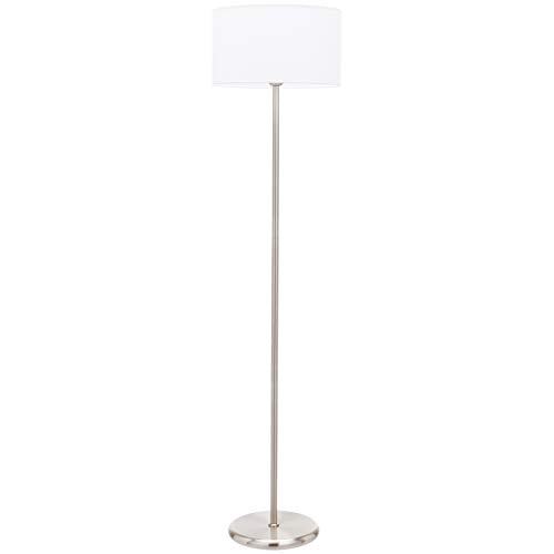 UMI Floor Standing Lamp Fabric Shade Cilindrical, Beige, 56.8''