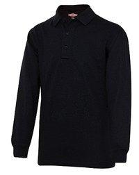 Kitaro Polo Longsleeve Polohemd langarm Übergrößen black/navy (black, 5XL)