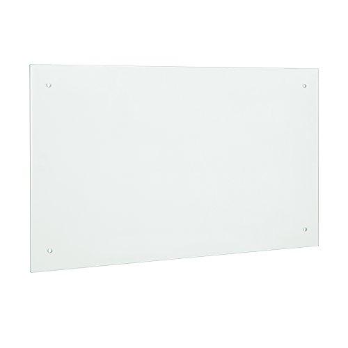 [neu.haus] Glas Küchenrückwand/Spritzschutz (70x50cm) - Mattglas - Fliesenspiegel inkl. Befestigungsmaterial