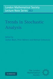 Trends in Stochastic Analysis PDF Books