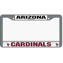Arizona Cardinals Chrome License Plate Frame - Set of 2 by Rico