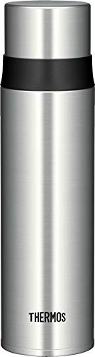 THERMOS 4037.205.050 Thermosflasche Ultralight, Edelstahl mattiert 0,5 l, extrem leicht, nur 275 g, 16 Stunden heiß, 24 Stunden kalt - Push-lock-tasche