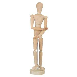 Gliederpuppe aus Holz, weiblich 30 cm