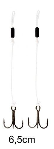 Westin Pro Stinger - 2 Angsthaken, Zusatzhaken für Gummifische, Angelhaken für Gummiköder, Haken für Gummifisch, Länge / Hakengröße / Packungsinhalt:6.5cm / Gr. 8 / 2 Stück