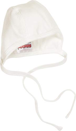 Schnizler Unisex Baby Erstlingsmtze Nicki, Oeko Tex Standard 100 Mütze, Beige (Natur 2), Neugeboren (Herstellergröße: 50/56)