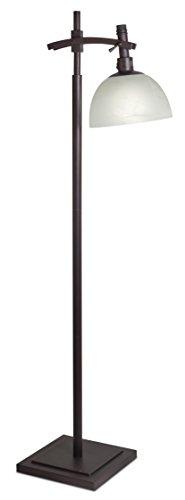 OttLite 25w Pacifica Stehlampe 25591BZR-EURP - Glas-antike Bronze Ein Licht