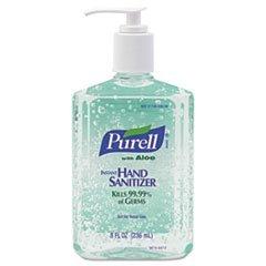 ** Advanced Instant Hand Sanitizer Gel Floral Scent 8 oz Bottle 12/Carton **
