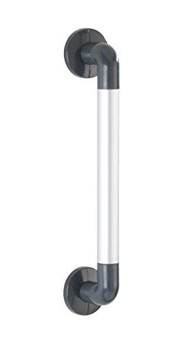 Wenko Bad-Sicherheitsgriff Secura Silber 43 cm Wandhaltegriff für Badewanne oder WC, Aluminium, matt, 8 x 43 x 7 cm