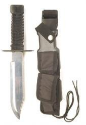 US Army Überlebensmesser Special Forces tarn 7 ½ Jagdmesser Angelmesser Messer Schwarz oder Woodland (Schwarz) (Bajonett-messer)