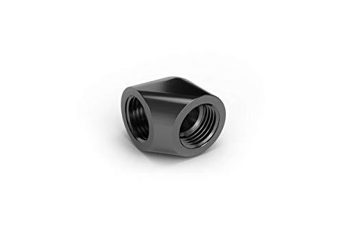 EK Water Blocks adaptador 90Â ° 2F G1/4Serie EK-AF–Negro/níquel