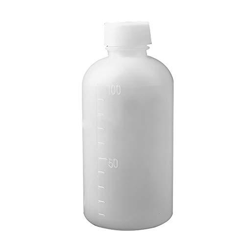 Kastilien Seife-paket (Man9Han1Qxi 10Pcs 100ml transluzentes Labor Home Plastikflaschen mit Scale Medikament Proben White)