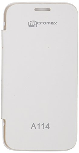 iCandy™ Synthetic Leather Flip Cover For Micromax Canvas 2.2 A114 - WHITE  available at amazon for Rs.170