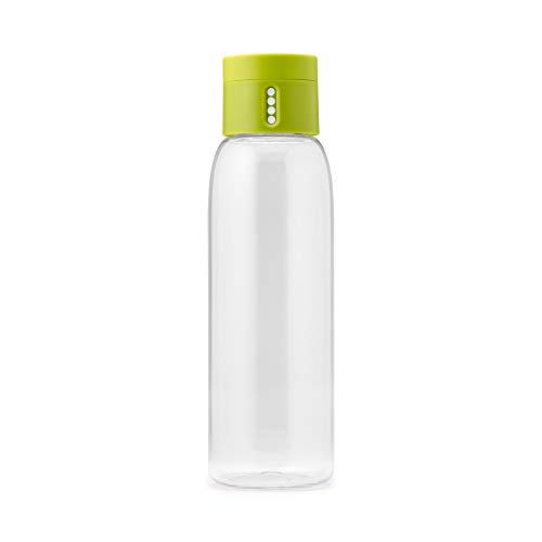Joseph Joseph Dot - Trinkkontrol Wasserflasche 600ml, Kunststoff, grün Joseph Design