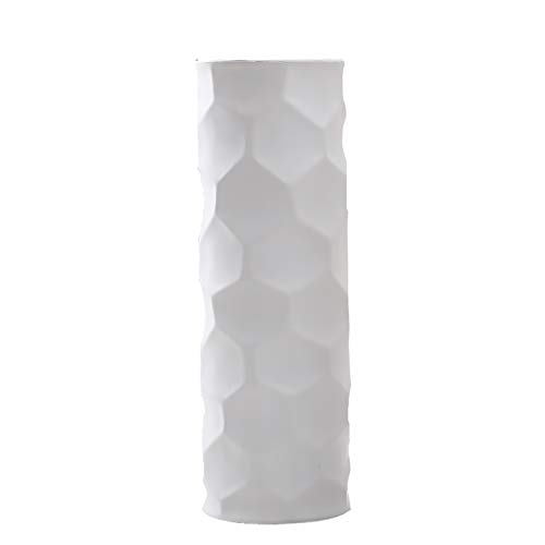 Hetoco 30cm bianco fiori vaso decorativo di design moderno collection per ricorrenze decorazioni per interni ristorante bar cafe porcellana