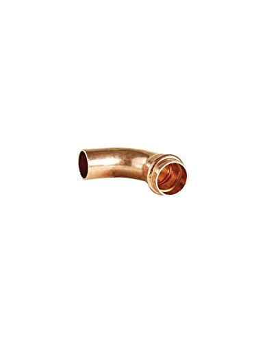 Courbe 90° cuivre a sertir gaz male femelle tube cuivre ø22