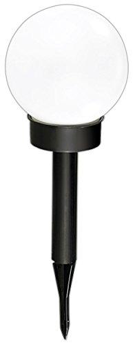 Lunartec - Borne lumineuse sphérique solaires à LED, Ø 20 cm, blanc lumière du jour