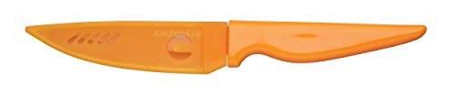 Kitchen Craft CWPAROR Couteau de Cuisine avec Étui de Protection, Acier Inoxydable, Orange, 32 x 32 x 22 cm