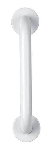 Croydex Barre d'appui droite en acier inoxydable avec fixations dissimulées Blanc 30 cm