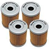 Road Passion Ölfilter für Suzuki AN400 Burgman 400 1999-2006 AN400 Burgman Type S 400 2003-2006 (4 Stück)