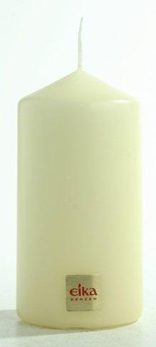Eika Stumpenkerzen/Säulenkerzen - 12 Stück - Abmessung (H/Ø): 110/60 mm - Kerzen Farbe: Champagner