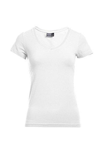 T-shirt Slim Fit femme col V Blanc