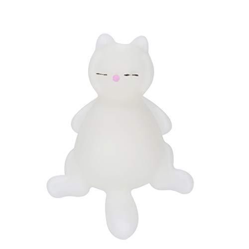 Rameng- Squishy Chat Pas Cher Kawaii Balle Anti Stress Squishy Super Lente Rising Squeeze Jouet (Blanc)