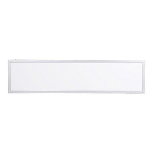 Flat-panel-gehäuse (Anten LED Panel 30x120cm 40W Warmweiß 2700LM Rahmen Deckenleuchte Büro Deckenbeleuchtung IP44 3000-3500K 2835*168LED mit Rahmen und Seil Eckig Ultraslim Flach Aufhängung)