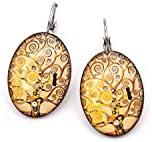 Orecchini Albero della Vita - Klimt - Arte - Orecchini in acciaio