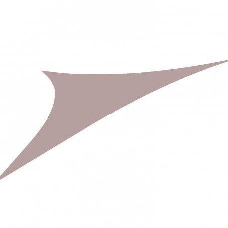 Easywind - Voile d'ombrage 400x400x570cm - Toureillo - Forme Triangulaire, Coloris Gris, Tissu Extensible