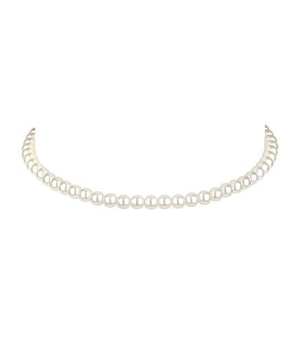 "SIX \""Oktoberfest Kurze Damen Hals-Kette, Choker, Halsband, Kropfband mit weißen Perlen (730-509)"