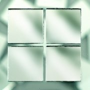 MosaixPro 20 x 20 x 3 mm 200 g 72-Piece Mirrors Tiles, Silver