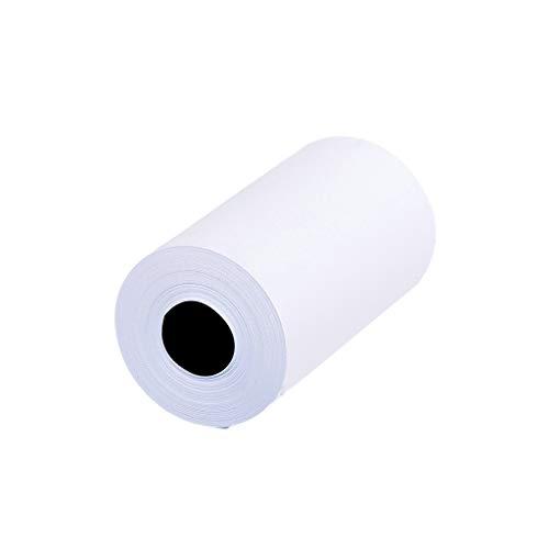 R-Cors bedruckbare Aufkleber-Papierrolle, 3 Stück, weiß, direkt Thermopapier, selbstklebend, 57 x 30 mm, Kassenpapier, für Paperang und Mini Wireless Mobile Instant Drucker, Thermo-Kassenrollen