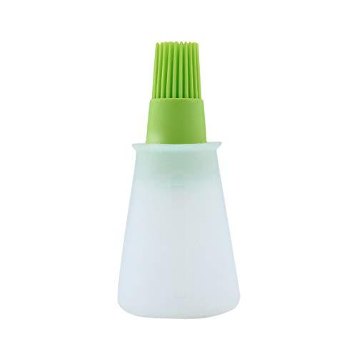 Heaviesk Cepillo de Botella de Aceite de Silicona Herramientas de brocha de Barbacoa Conveniente de Cocina Brocha ecológica Protección del Medio Ambiente