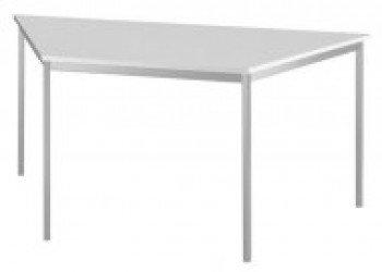 Konferenztisch mit Rund-Rohr chrom DORAN 160 x 69cm Grau