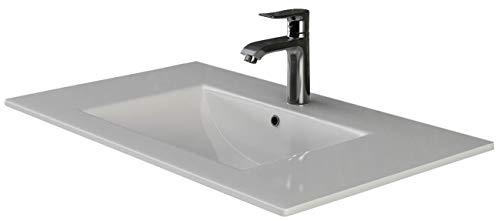 VILSTEIN© Keramik Einbau-Waschbecken Einsatz-Waschbecken Waschtisch Becken Handwaschbecken ca. 82 cm